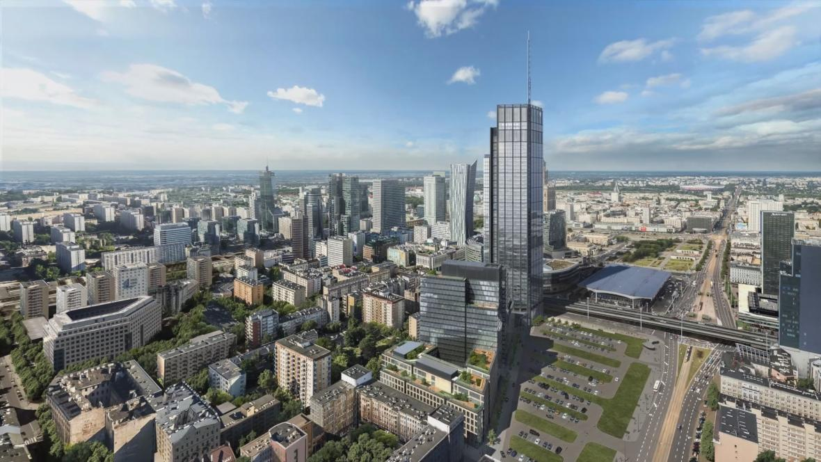 Vizualizace Varšavské věže