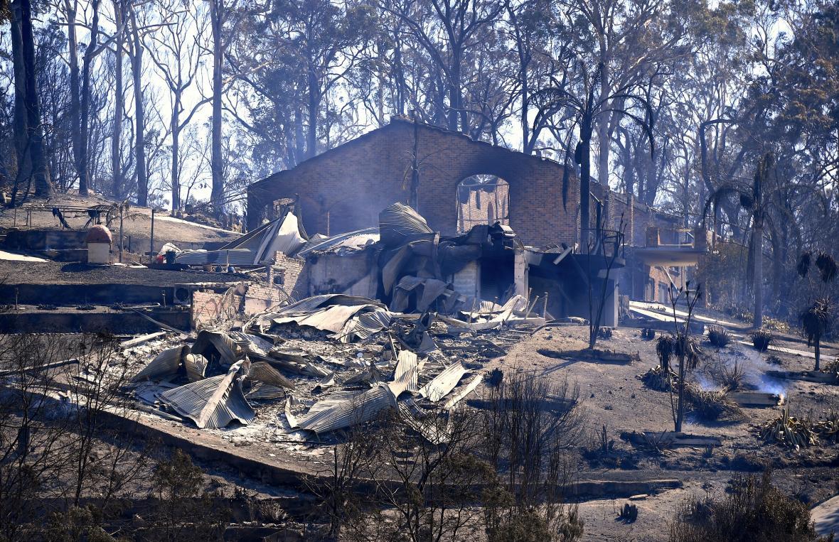 Požáry na jihovýchodě Austrálie