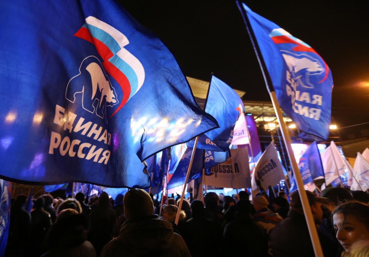 Rusové slaví Putinovo volební vítězství