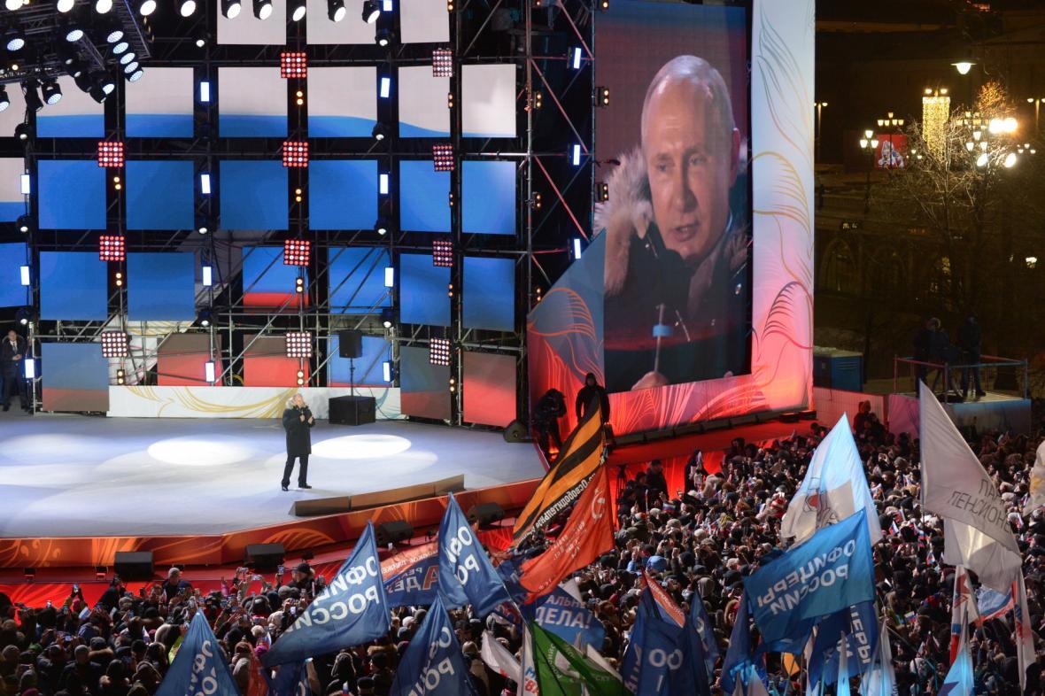 Putin na Manéžním náměstí