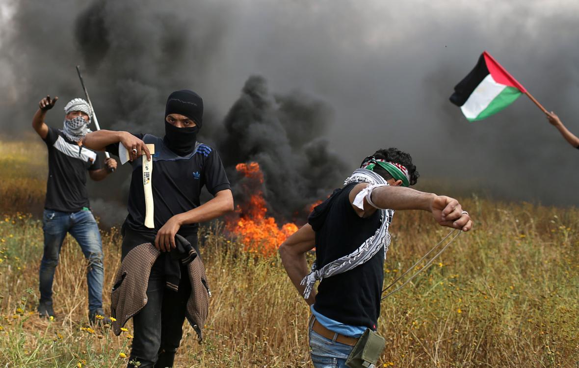 Palestinské protesty vyústily v násilí