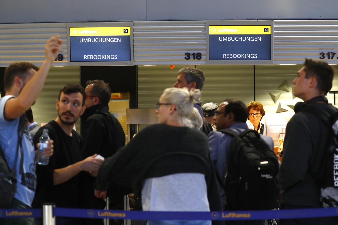 Stávka na německých letištích