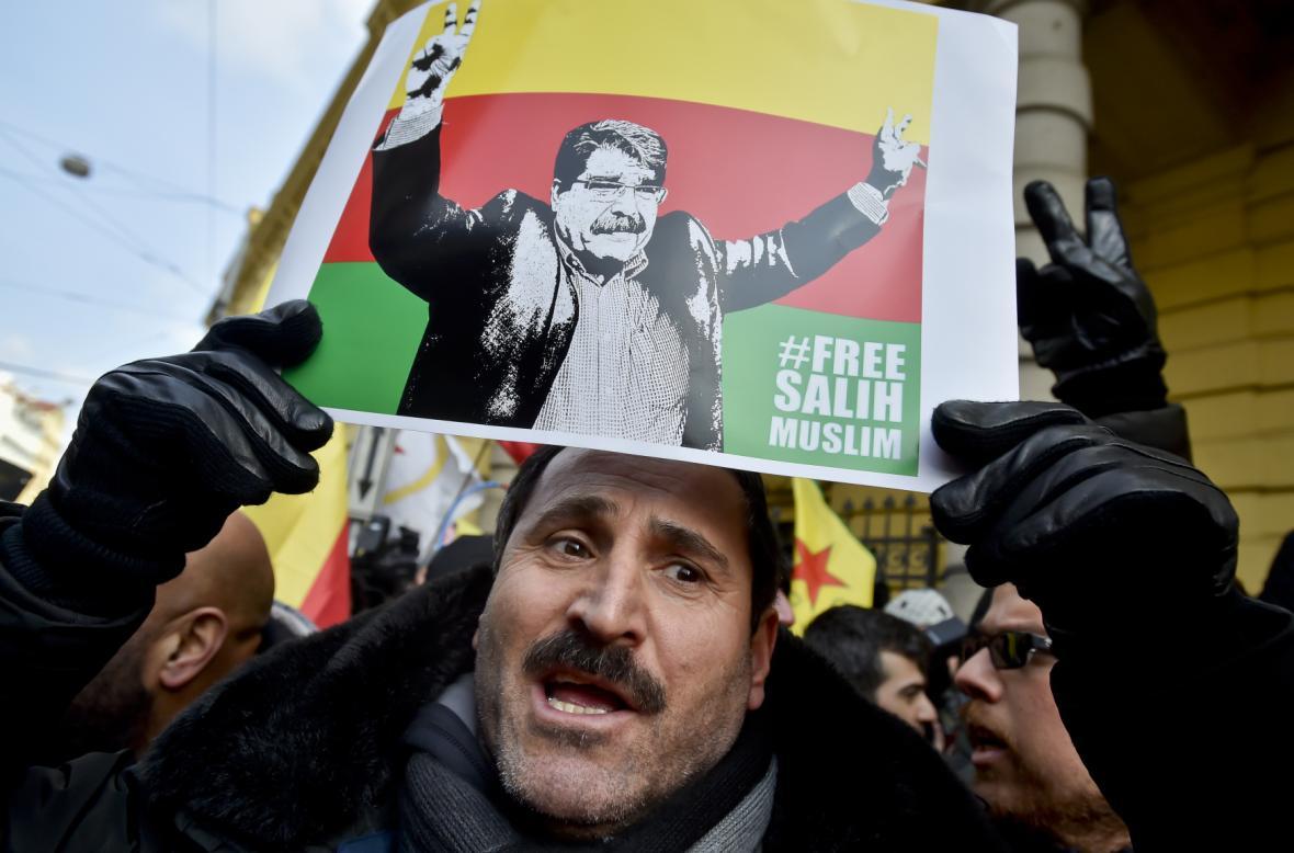 Oslava propuštění Sáliha Muslima