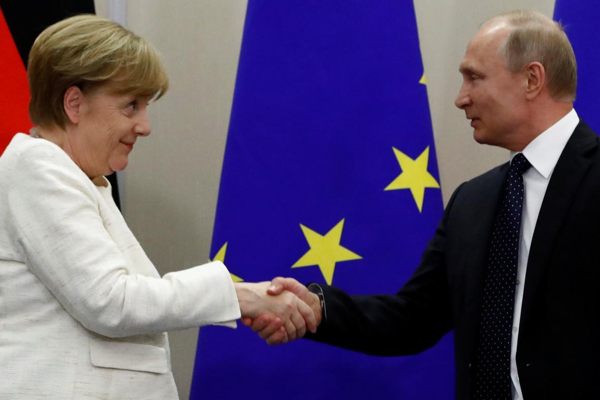 Merkelová a Putin v Soči