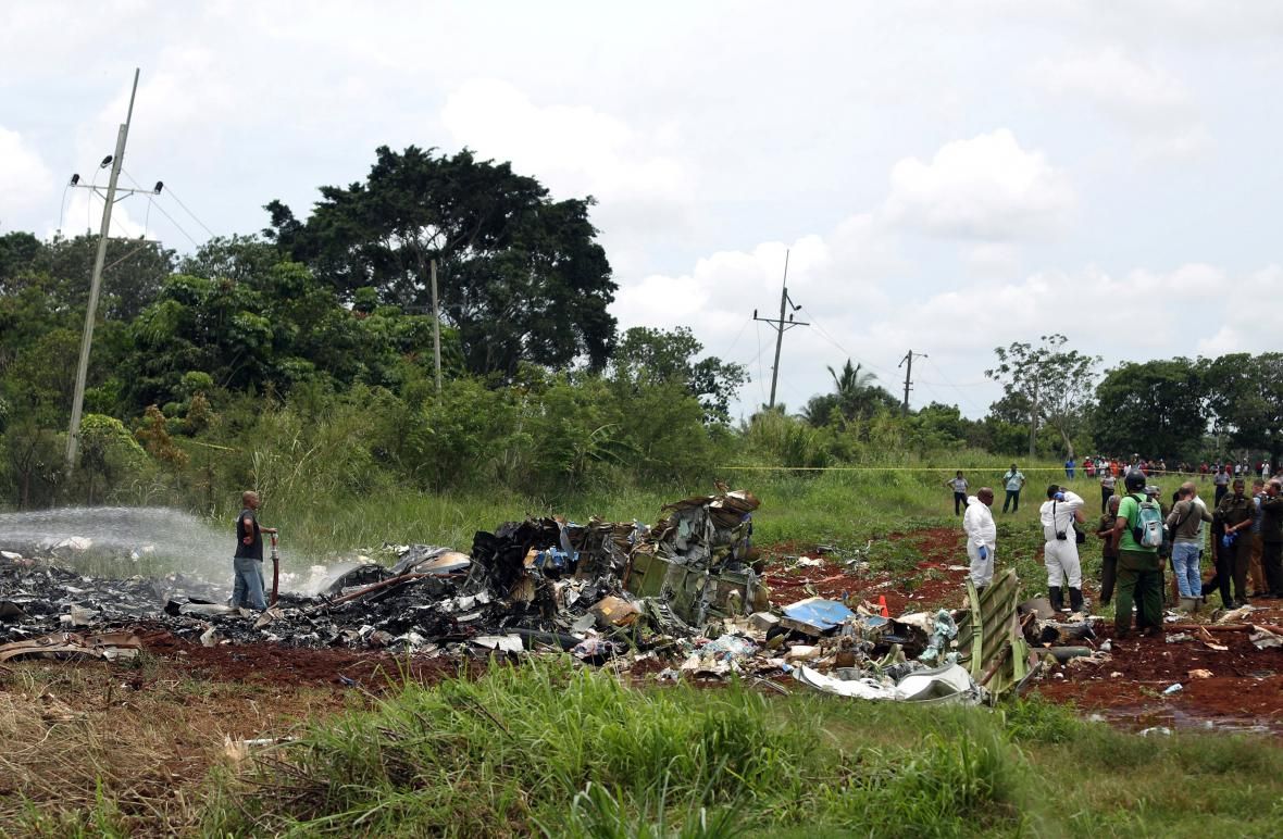 Havárie dopravního letounu na Kubě