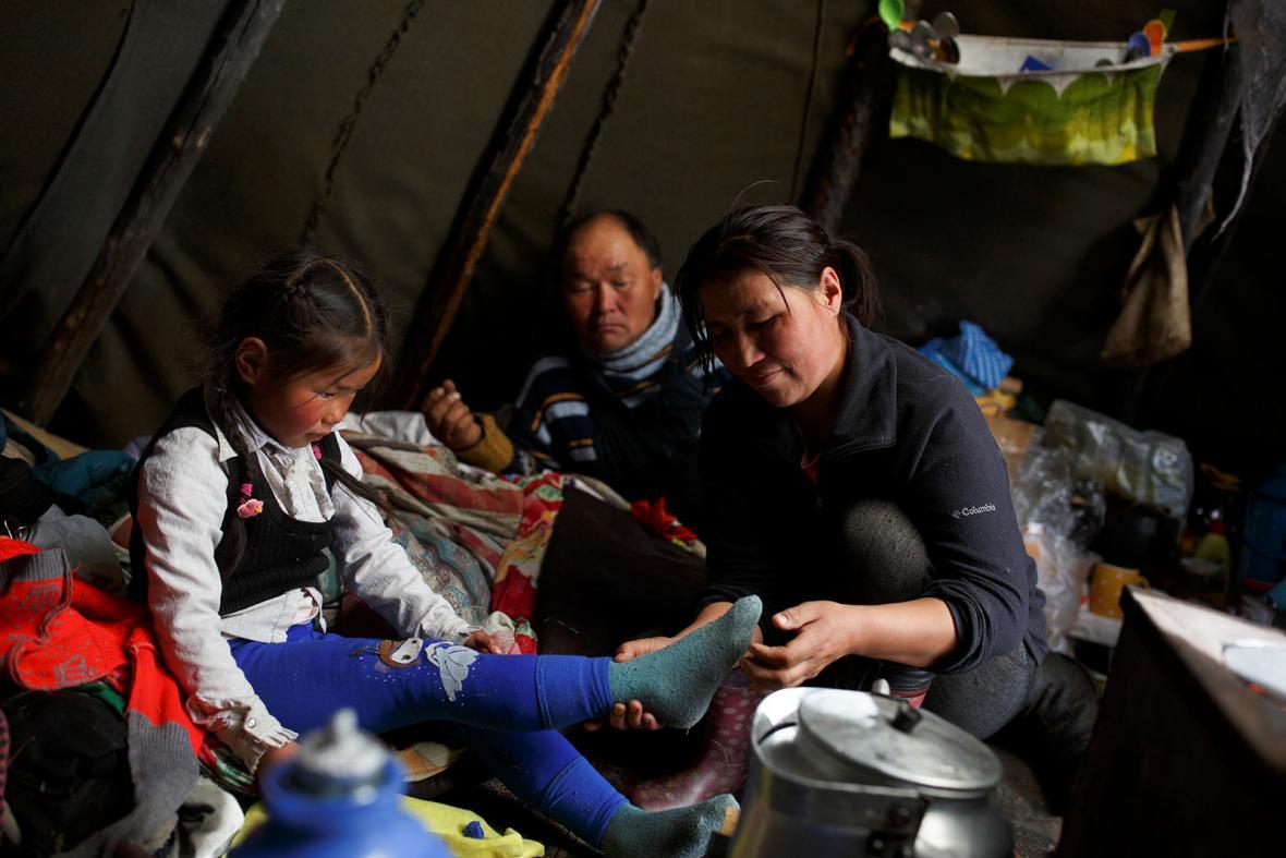 Mongolští kočovní pastevci sobů