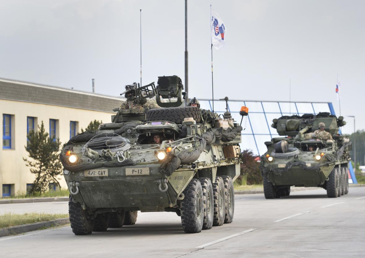Americký konvoj v Česku