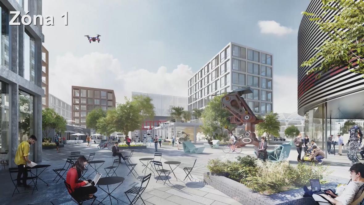 Návrhy budoucí podoby areálu Zbrojovky