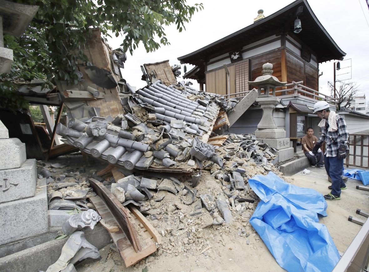 Zemětřesení v Japonsku, oblast Ósaka
