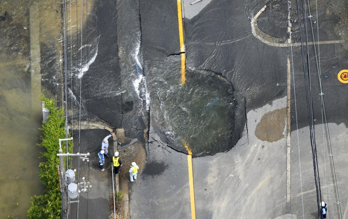Zemětřesení v Japonsku ve městě Ósaka