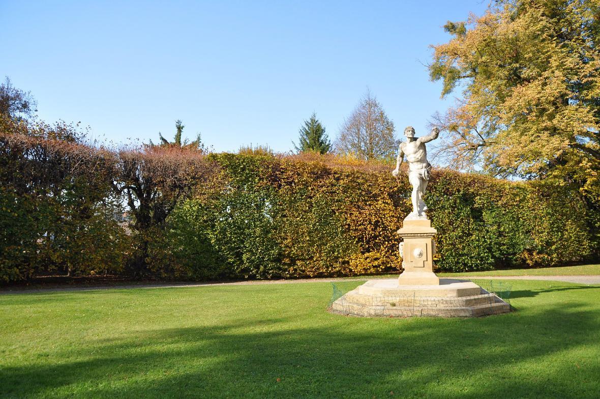 Zahrada zámku Vizovice