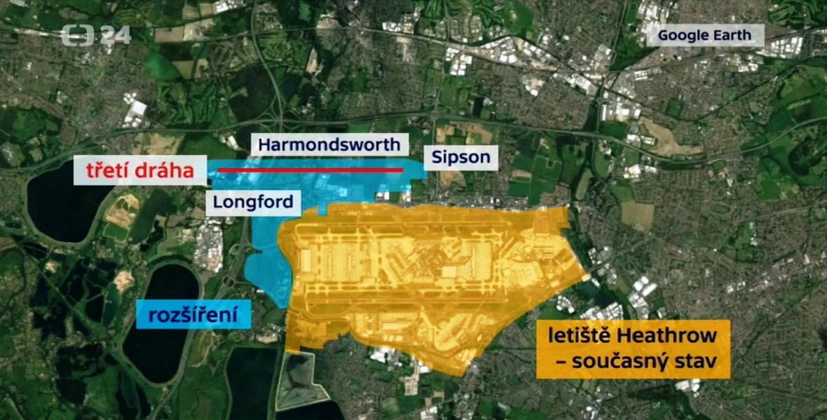 Plánované rozšíření letiště Heathrow