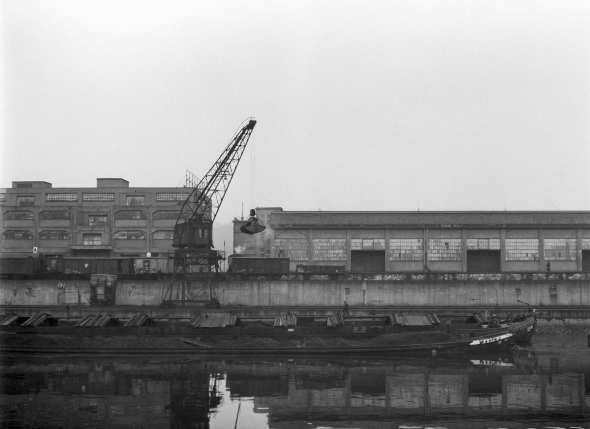 Holešovický přístav a přístavní dráha na historických fotografiích