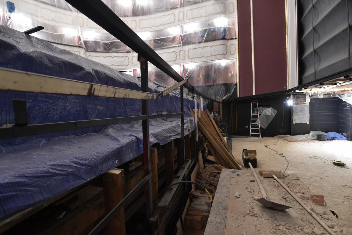 Oprava Moravského divadla Olomouc