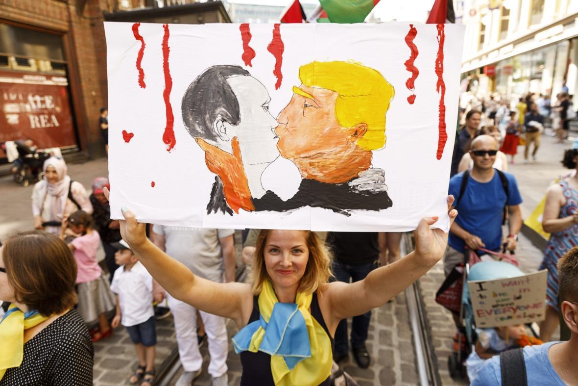 Donald Trump a Vladimir Putin v Helsinkách