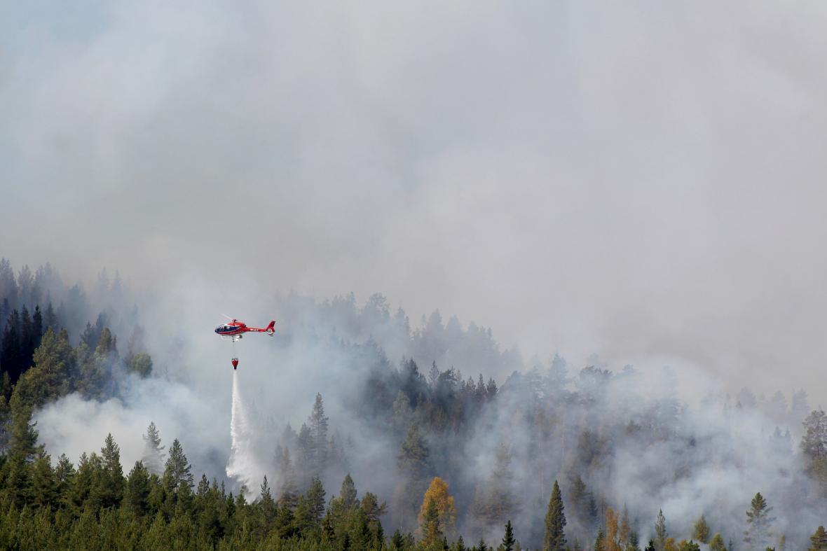 Lesní požáry ve Švédsku