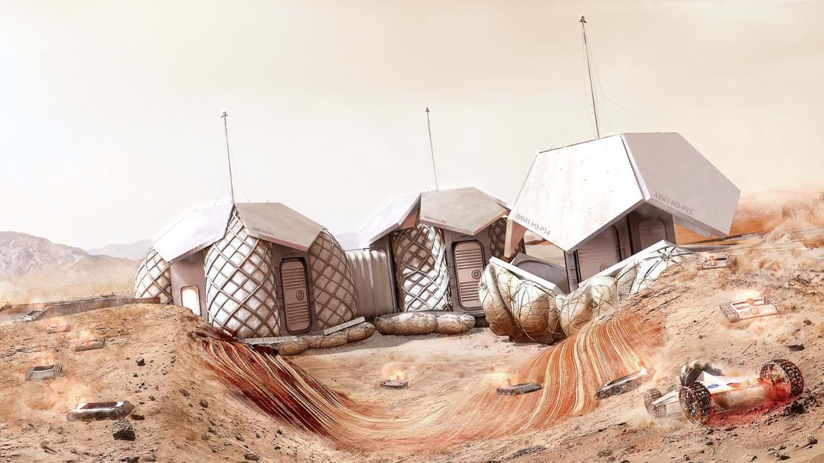Základnu na Marsu vytiskne 3D tiskárna