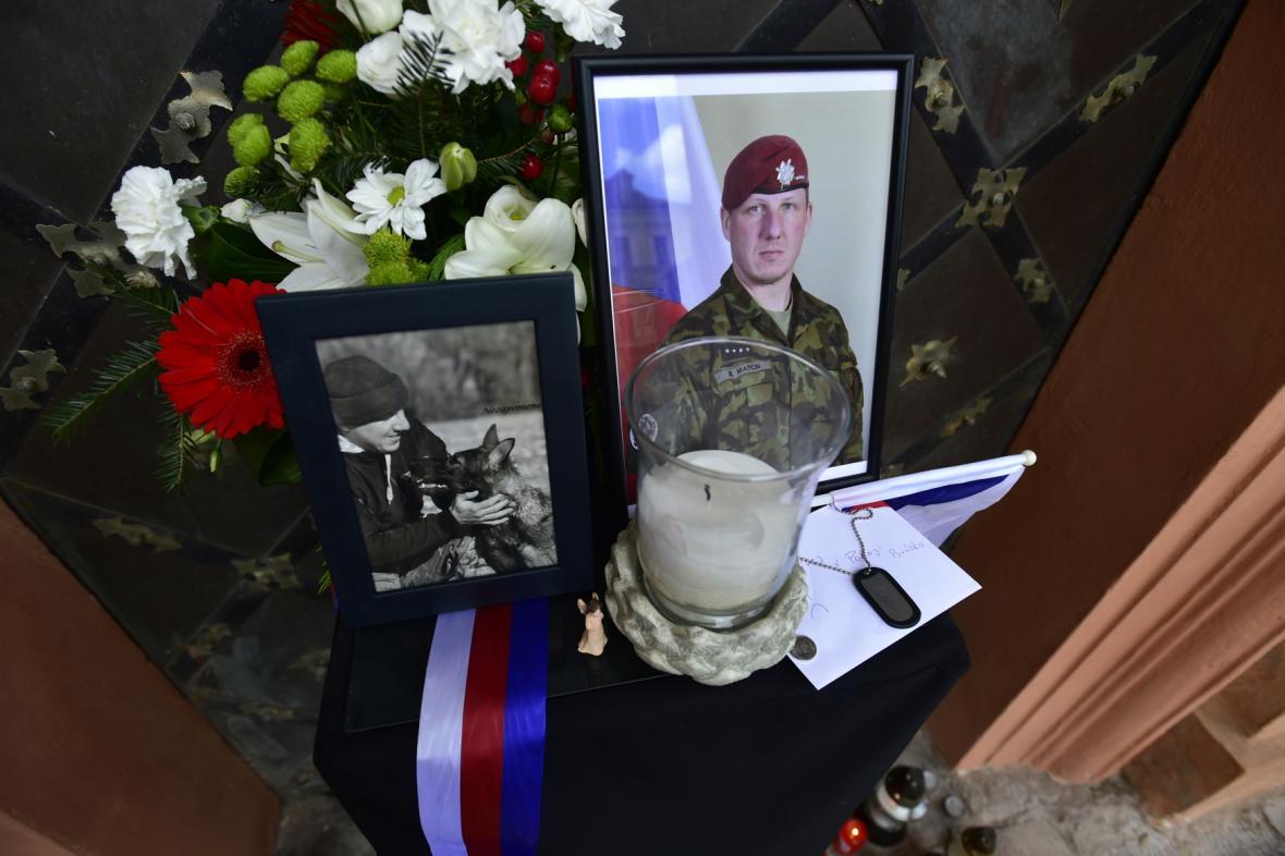 Pohřeb Martina Marcina v Chomutově