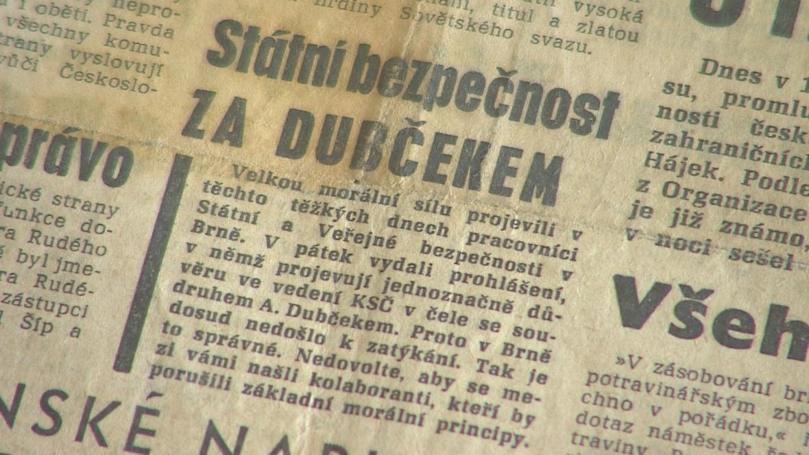 Srpnová vydání moravských deníků