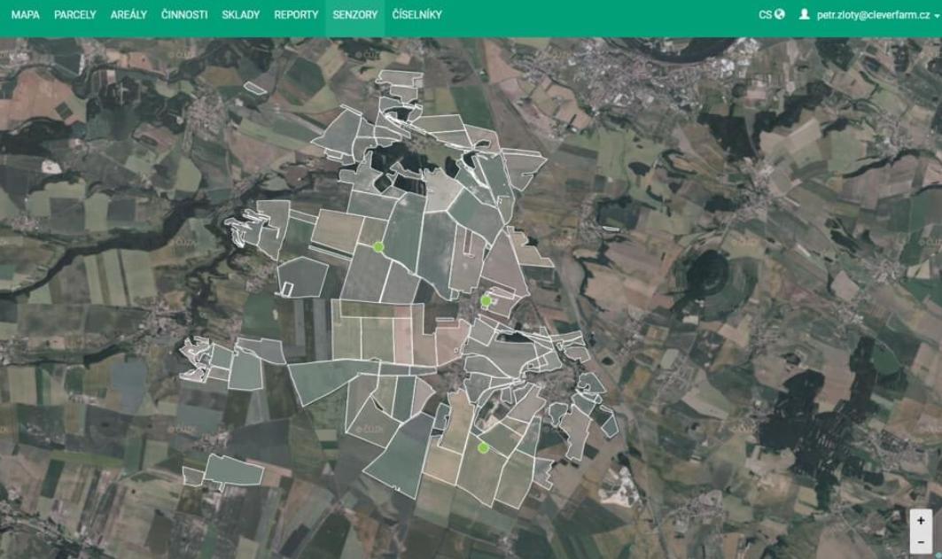 Země živitelka představuje i využití satelitních snímků