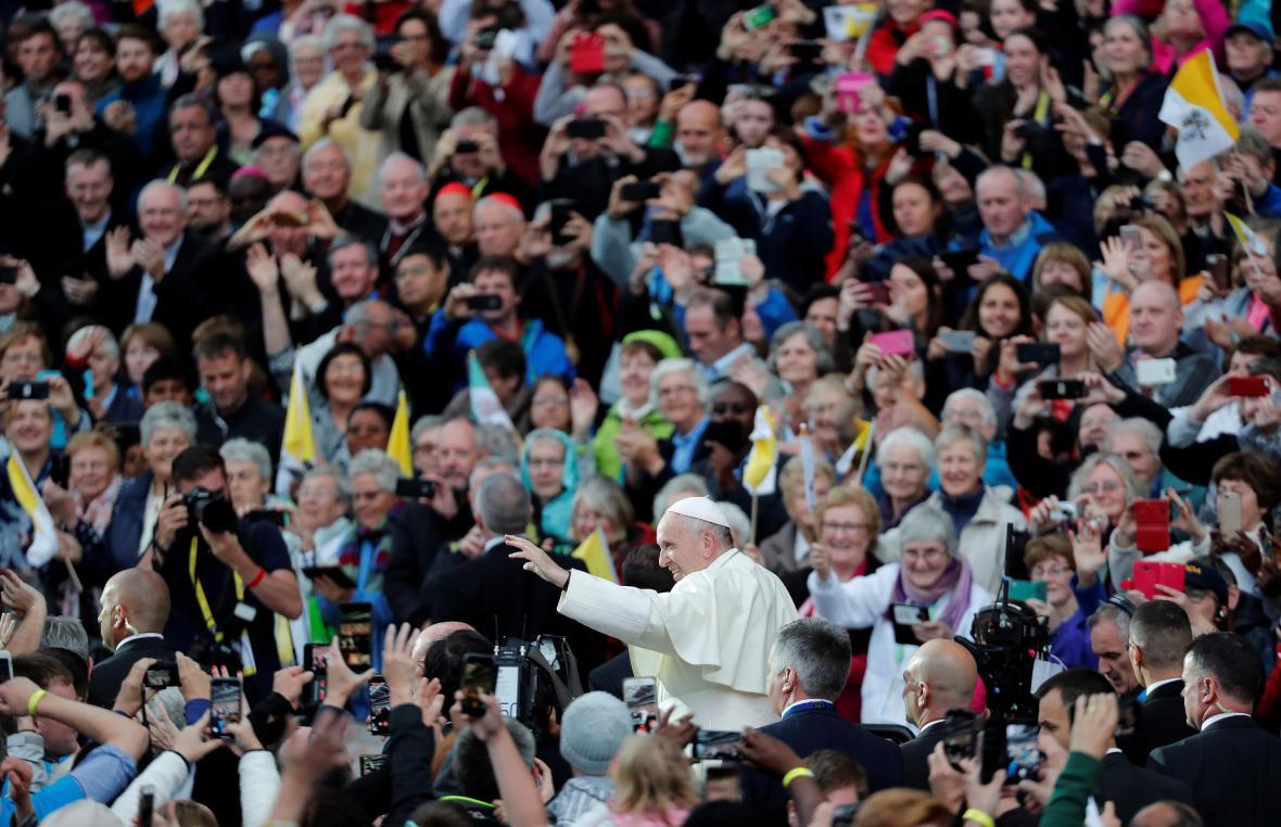 Papež František na Světovém setkání rodin na stadionu Croke Park