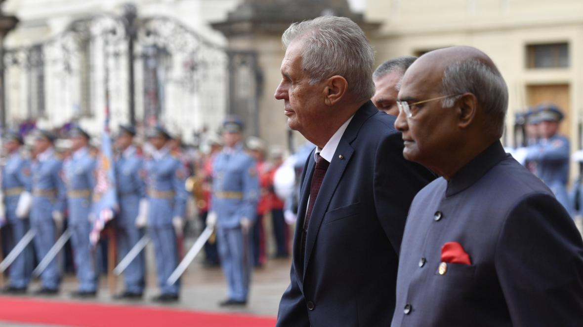 Indický prezident Rám Náth Kóvind v Praze