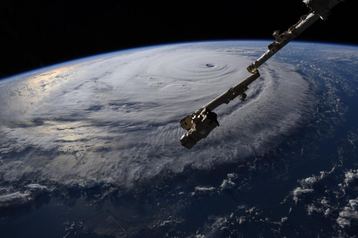 Hurikán Florence z Mezinárodní vesmírné stanice