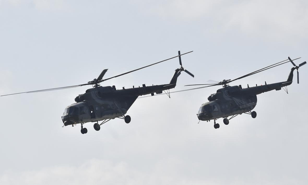 Vrtulníky Mi 171 v Mošnově.