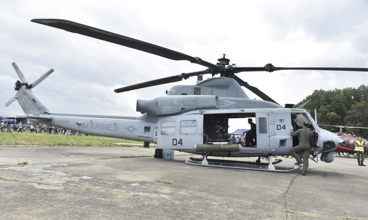 Americký víceúčelový vrtulník UH-1Y Venom zvaný Yankee od firmy Bell, který je jedním z uchazečů o zakázku pro českou armádu.