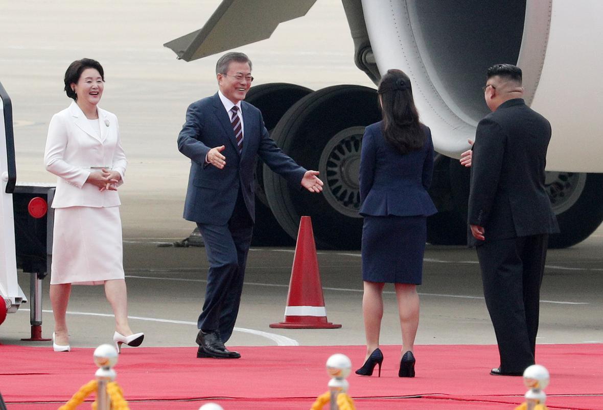 Setkání jihokorejského prezidenta Mun Če-ina a severokorejského vůdce Kim Čong-una v Pchjongjangu