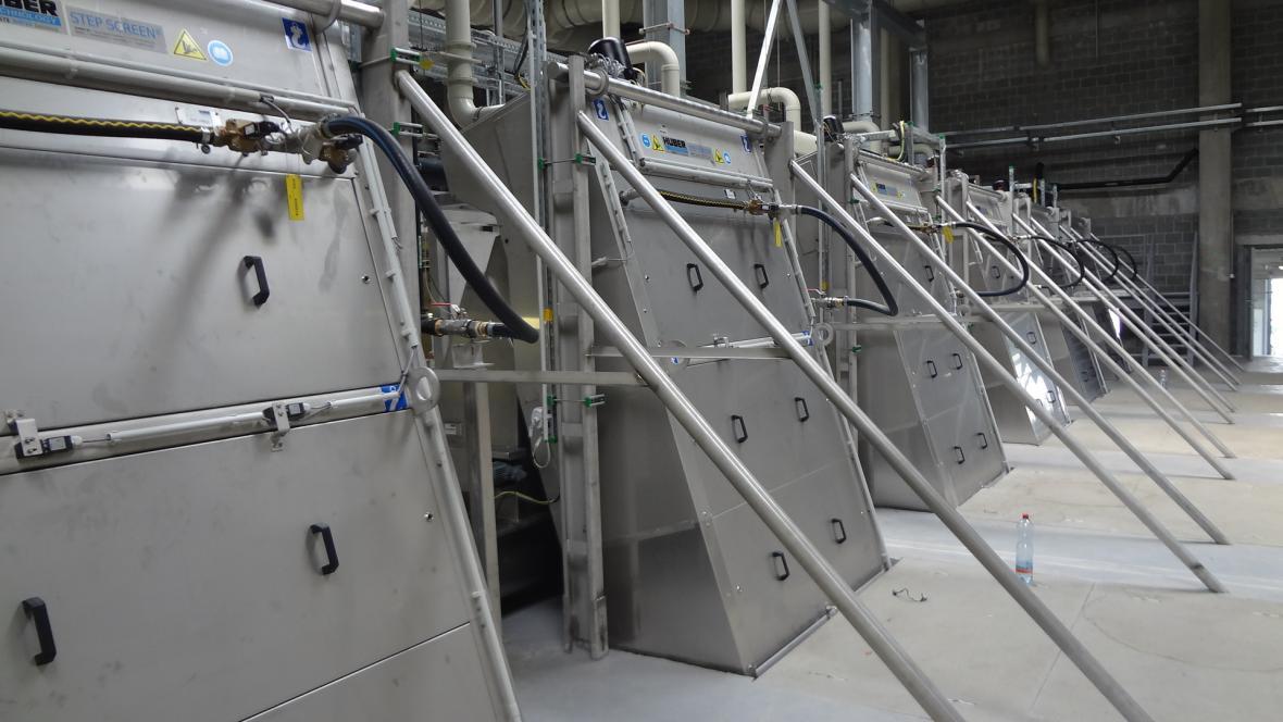 Nová vodní linka Ústřední čistírny odpadních vod na Císařském ostrově v Praze
