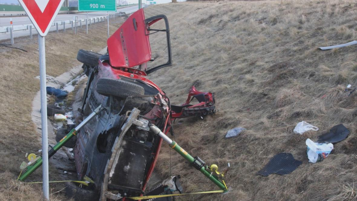 Tragická havárie u Hulína