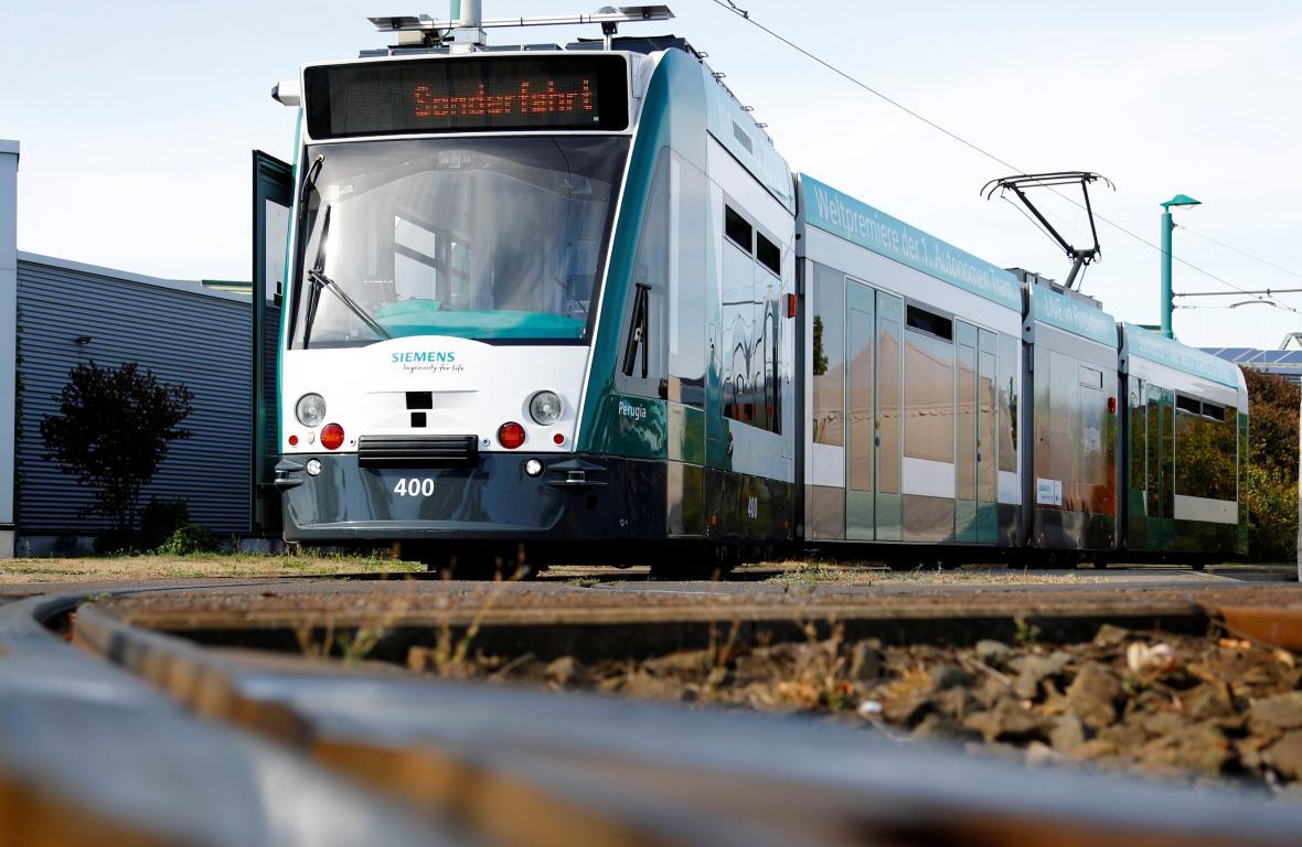 Autonomní tramvaj v Postupimi