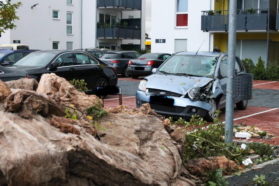 Následky bouře Fabienne