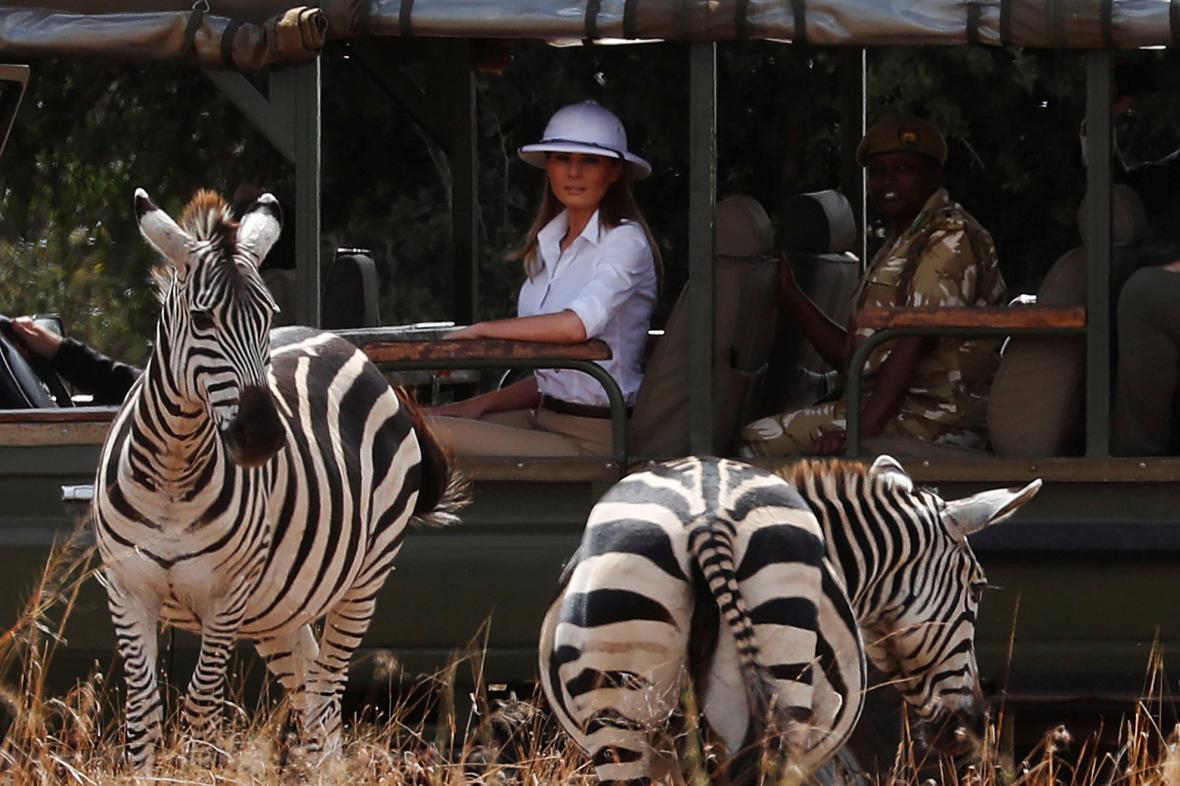 Součástí návštěvy Keni bylo i safari