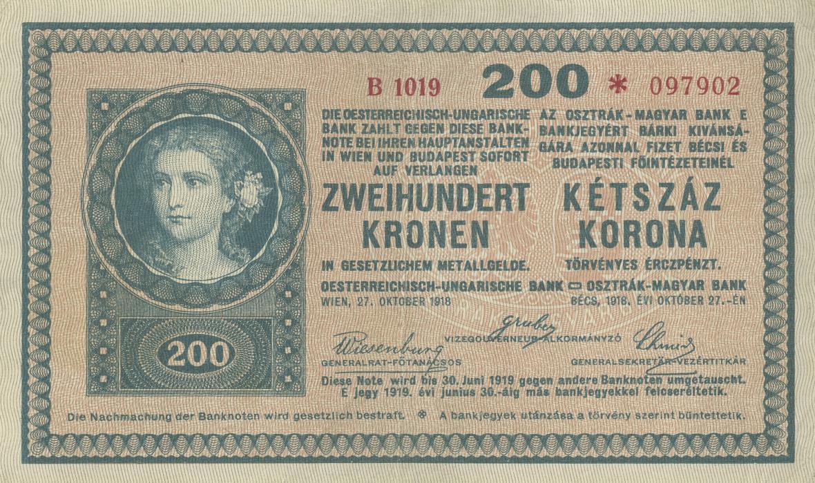 Peníze před vznikem samostatné republiky