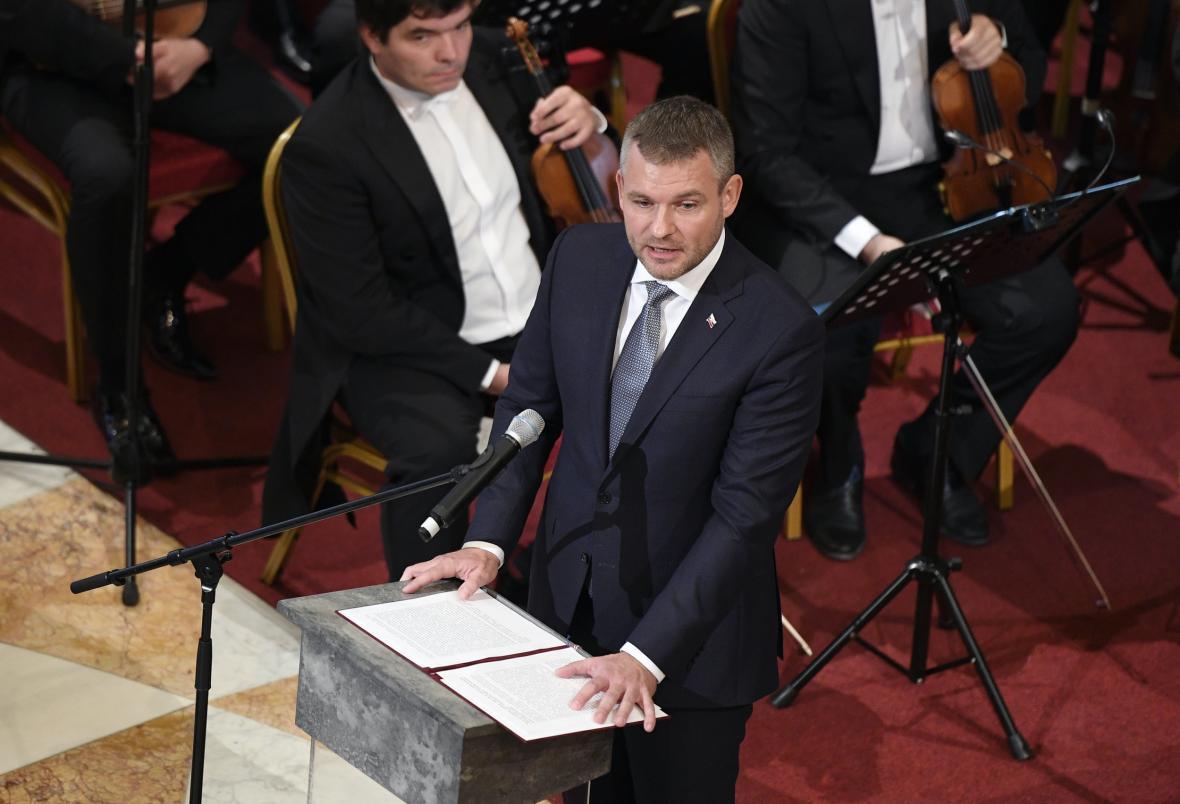 Slovenský premiér Peter Pellegrini na slavnostním otevření historické budovy Národního muzea
