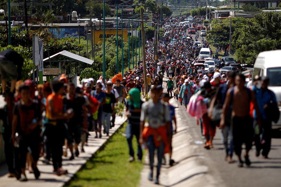 Karavana migrantů z Latinské Ameriky
