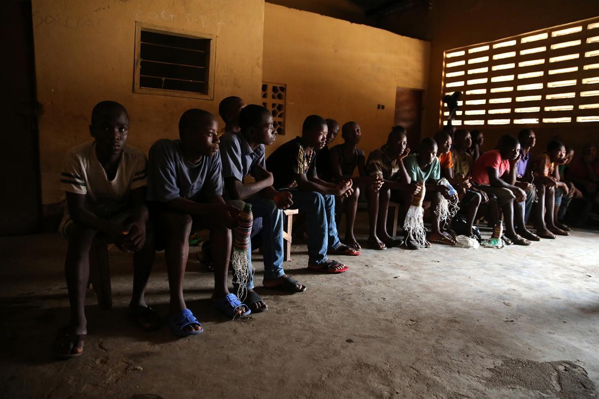 Nominace na vítěznou sérii Czech Press Photo 2018 (Problémy dnešní doby): Věznice pro mladistvé, Sierra Leone