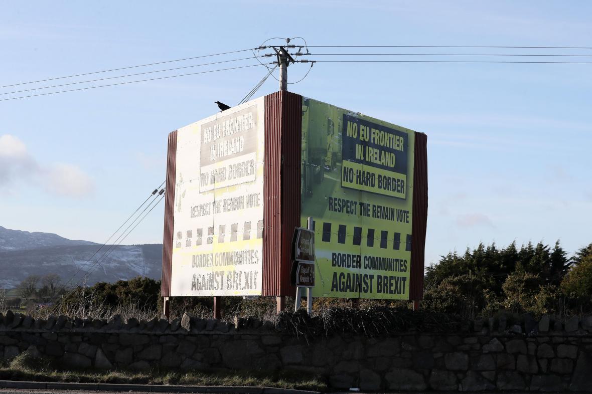 Plakát odmítající hranici mezi Irsky