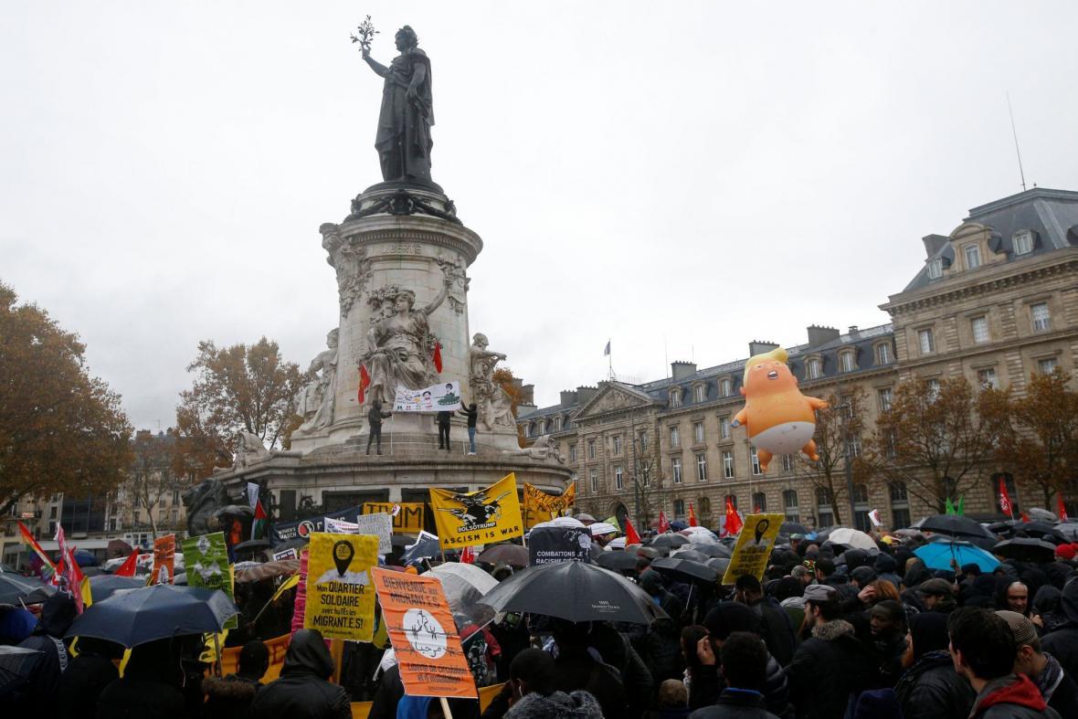 Protest proti americkému prezidentovi Donaldu Trumpovi
