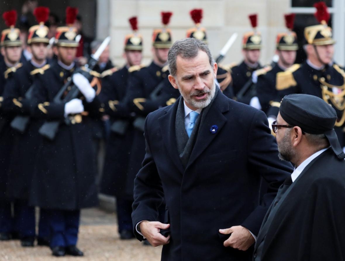 Španělský král Felipe VI. a marocký král Muhammad VI.
