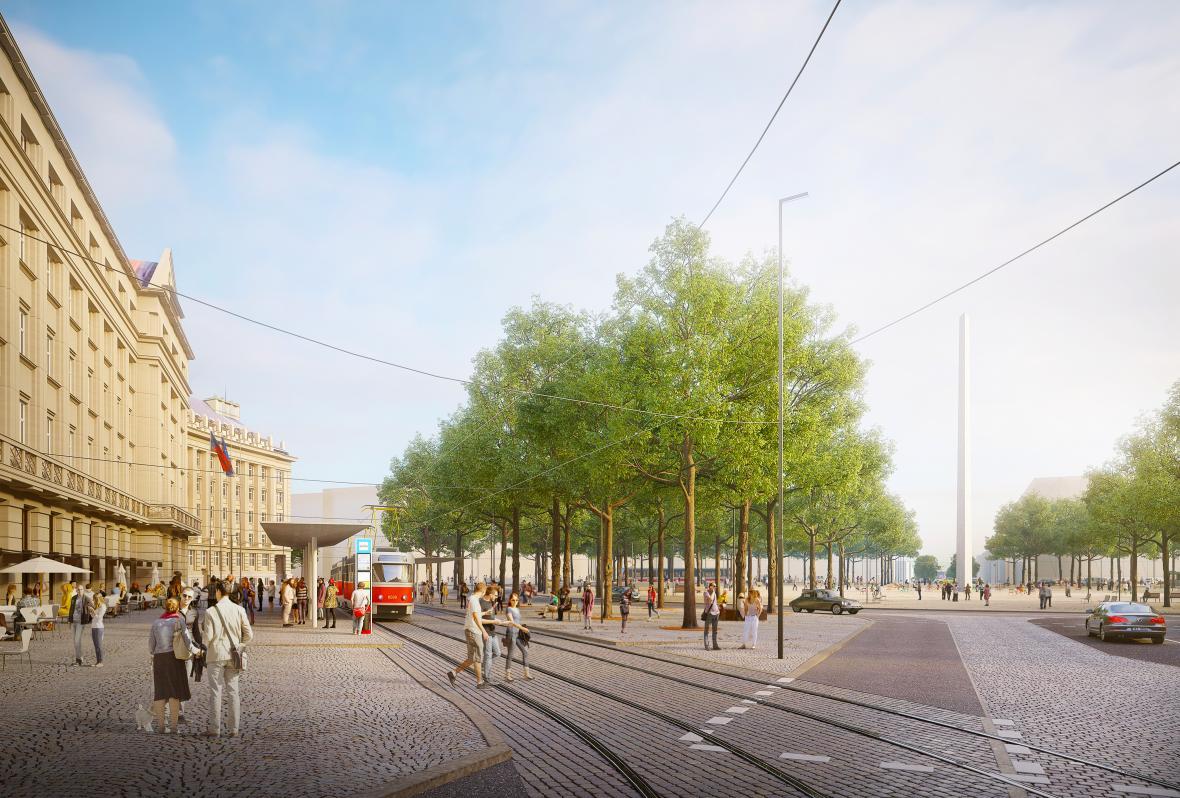 Vítězný návrh budoucí podoby Vítězného náměstí
