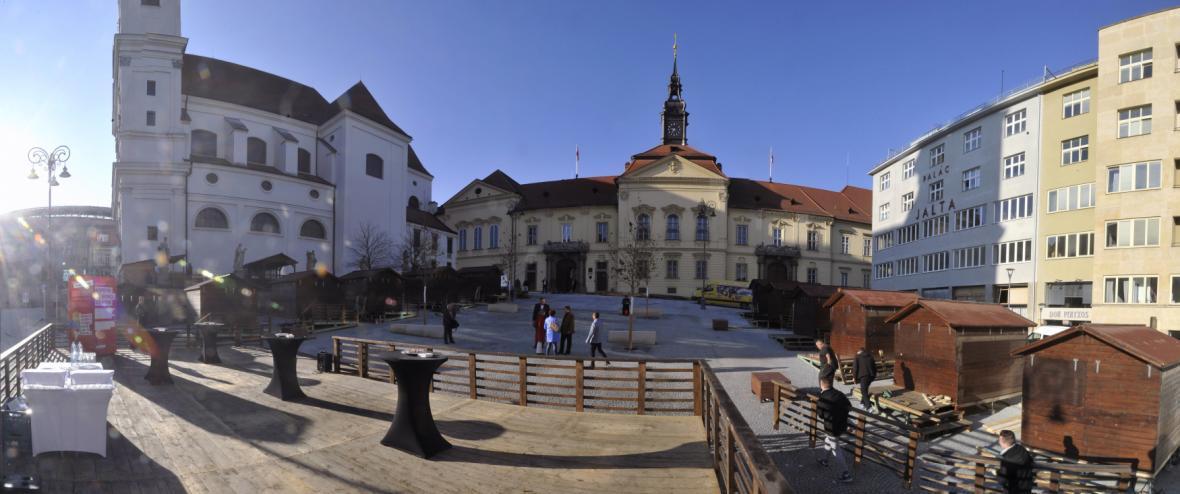 Zrekonstruované Dominikánské náměstí v Brně