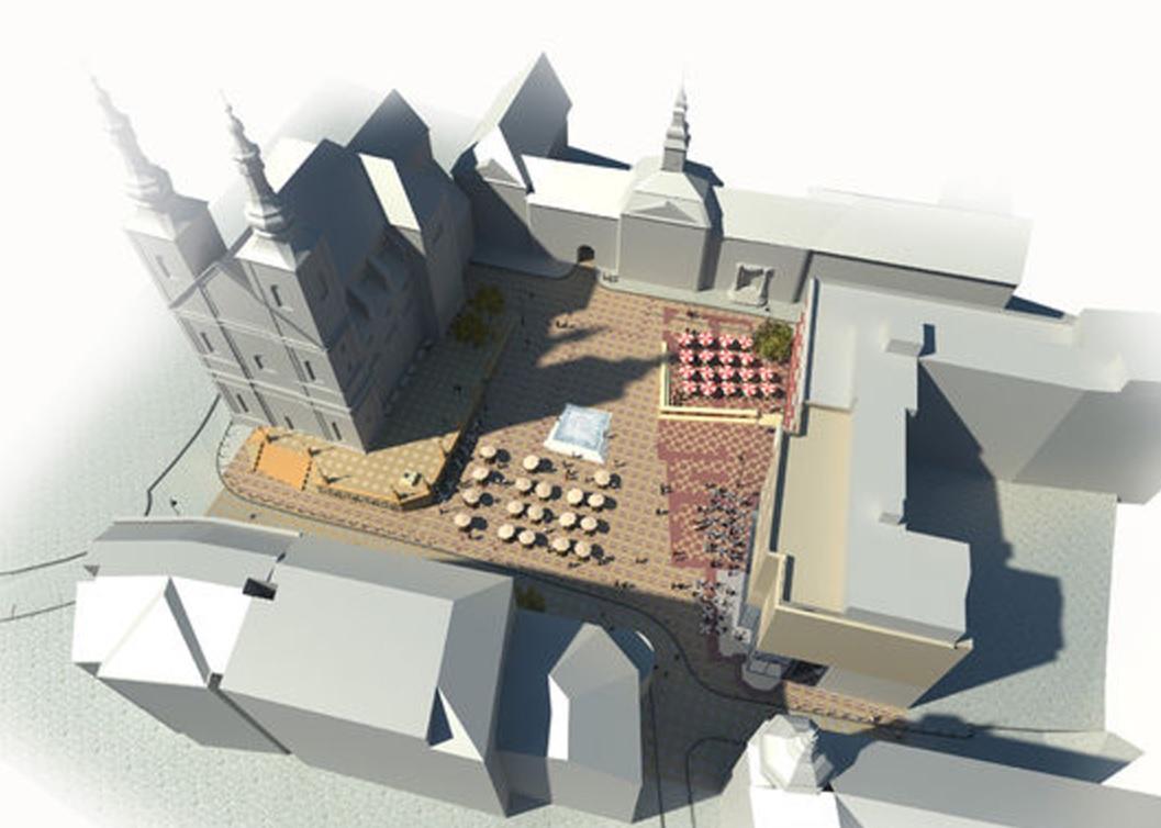 Návrh rekonstrukce Dominikánského náměstí architekta P. Hrůši
