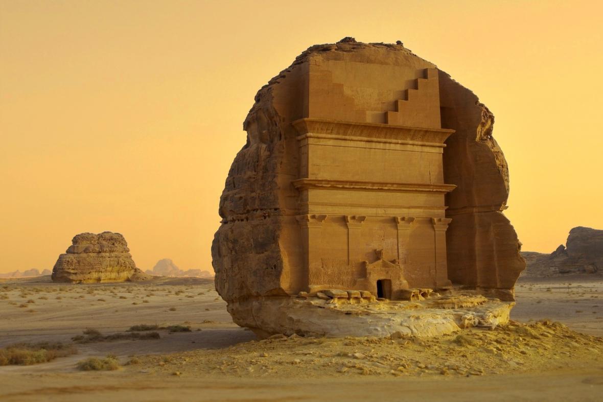 Hrobka v Saúdské Arábii