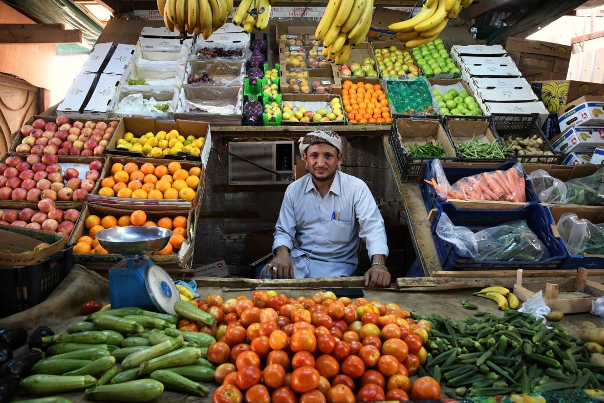 Trh s ovocem v Saúdské Arábii