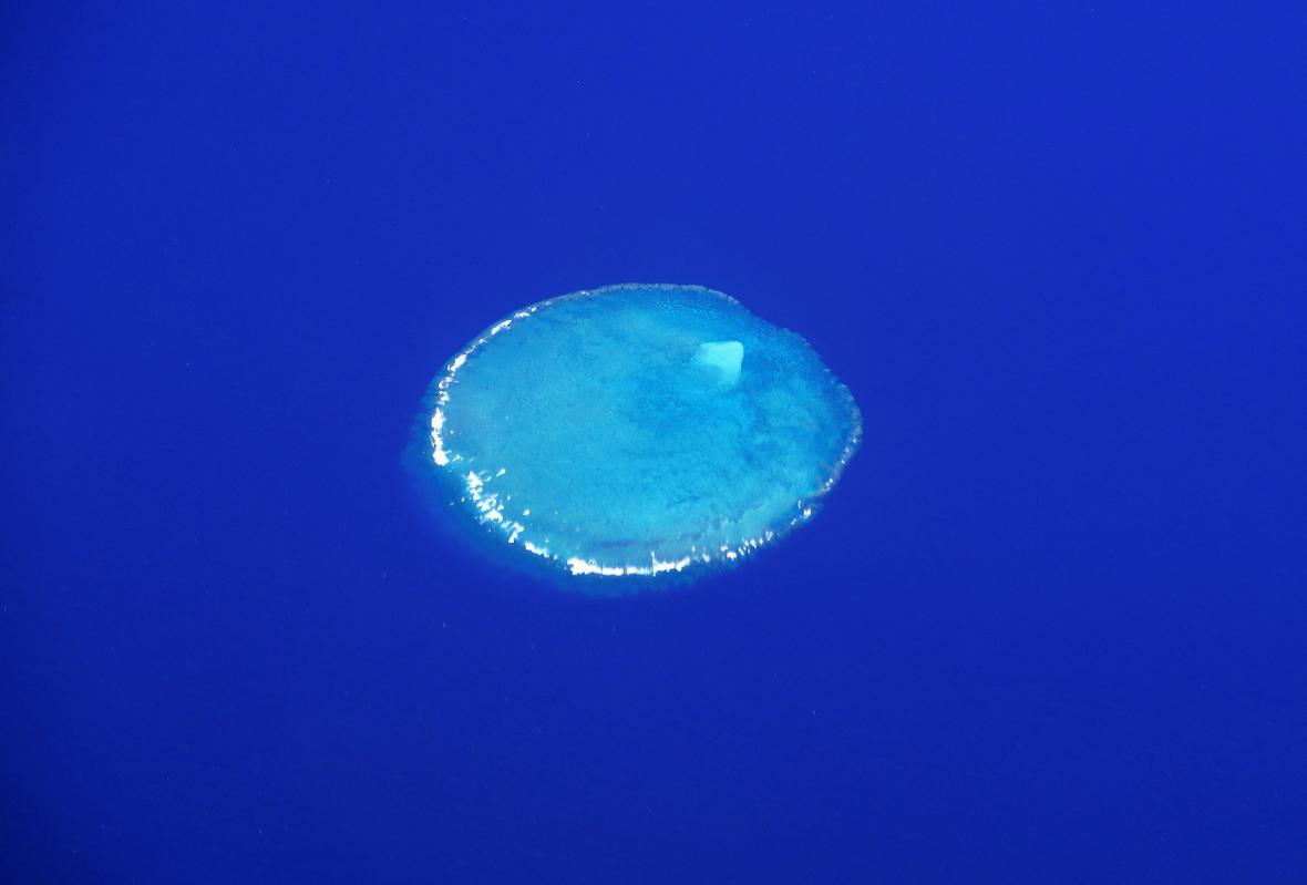 Velký korálový útes pohledem dronu