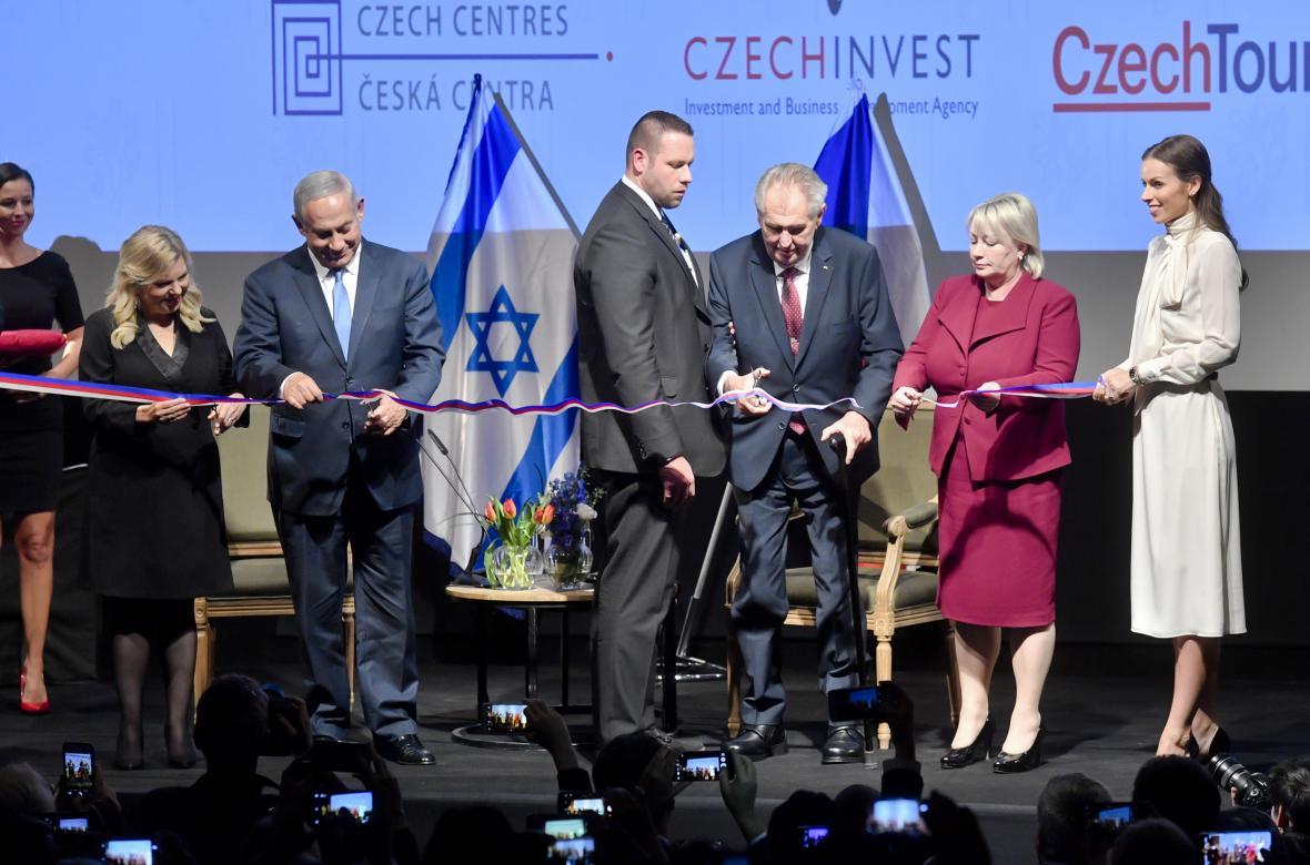 Premiér Netanjahu a prezident Zeman otvírají Český dům v Jeruzalémě
