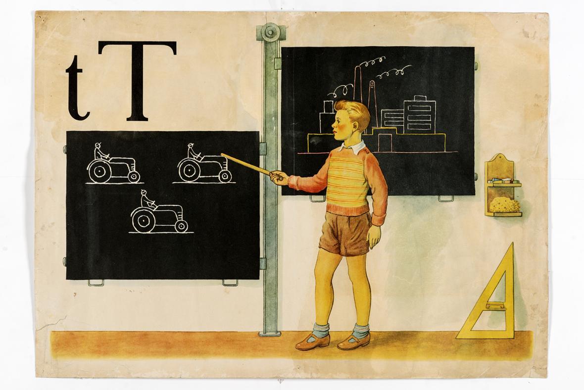 Z výstavy Čest práci, paní učitelko